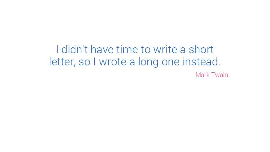 Presentation tips: use memorable quotes underline key points