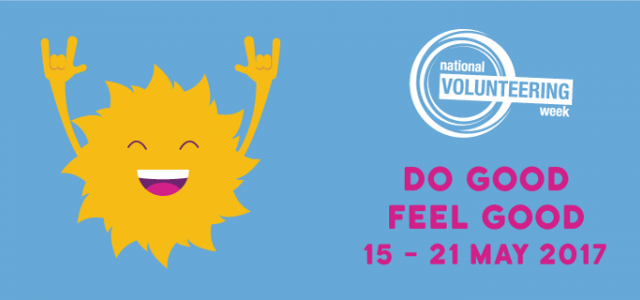 National Volunteering Week 2017 takes place 15-21 May