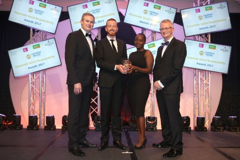 Earth's Edge won the 'Excellence in CSR by an SME' category in the Chambers Ireland CSR Awards.