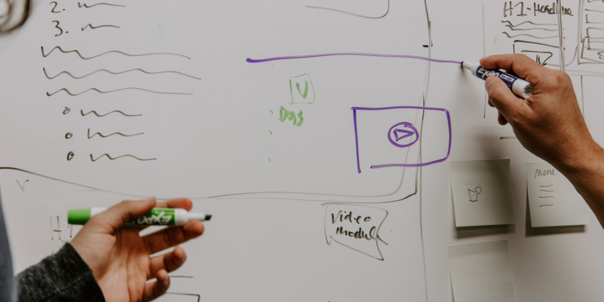 Whiteboard with writing training