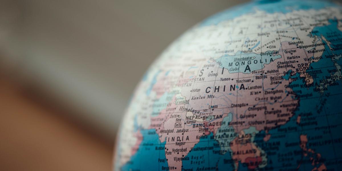 Globe depicting localisation
